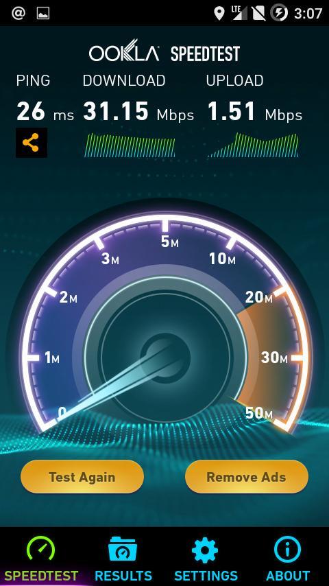 Speed Test Smartfren 4G LTE Advanced Yogyakarta