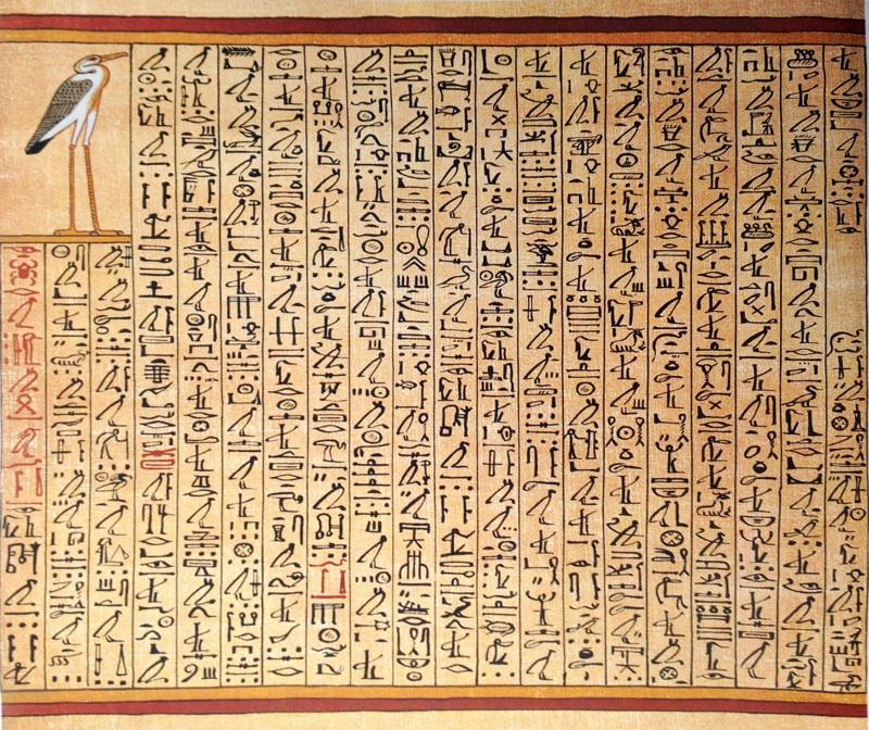 人間が嫌で、いっそアオサギに生まれ変わりたいと思っている人に朗報! 古代エジプトの『死者の書』にアオサギに変身するための呪文がある。これを覚えておけば、死んだ後、アオサギとして復活できる。写真にあるのがその全文。左から右に読む。 pic.twitter.com/6XttPtSozp