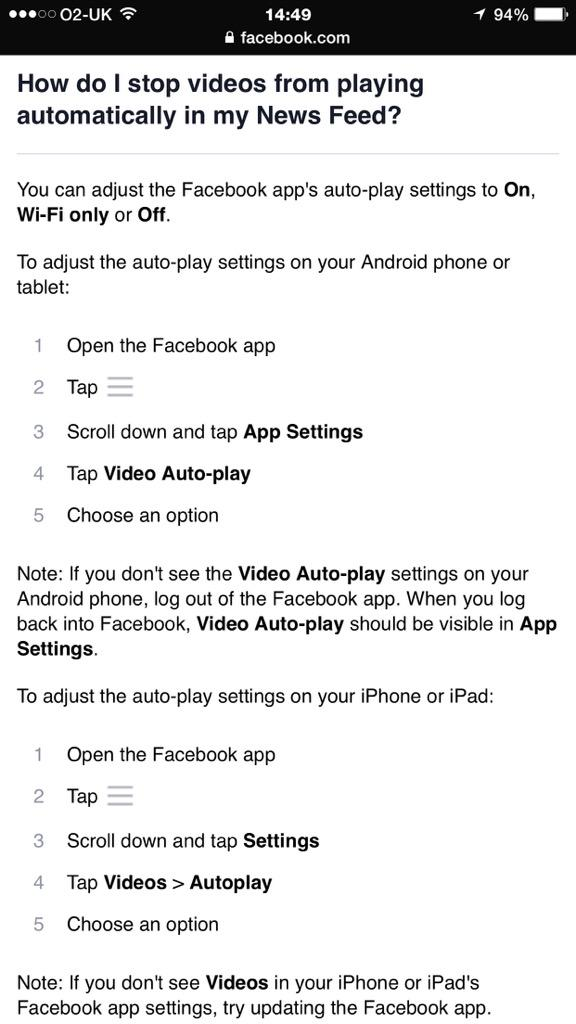 Here's how to prevent videos from auto-playing on Facebook & Twitter. Pls RT. http://t.co/w4RtTiUFBR