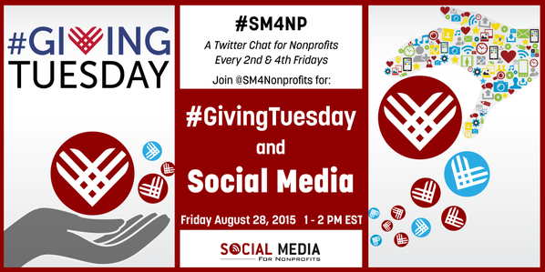 We'll be sharing TOP tips for #GivingTuesday this Fri 8/28 at 1pm at the #SM4NP tweetchat. Join us, #nonprofits! http://t.co/qNyXard8Az