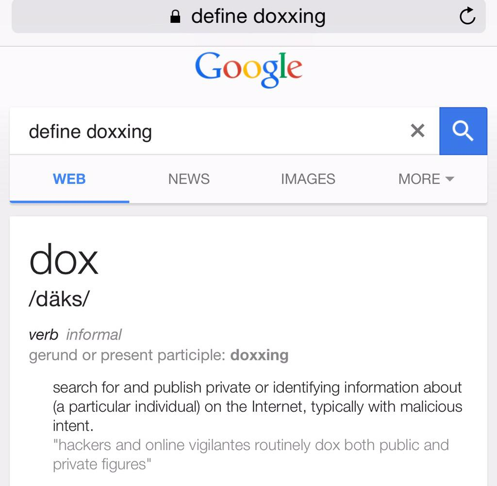 Image result for define doxxing