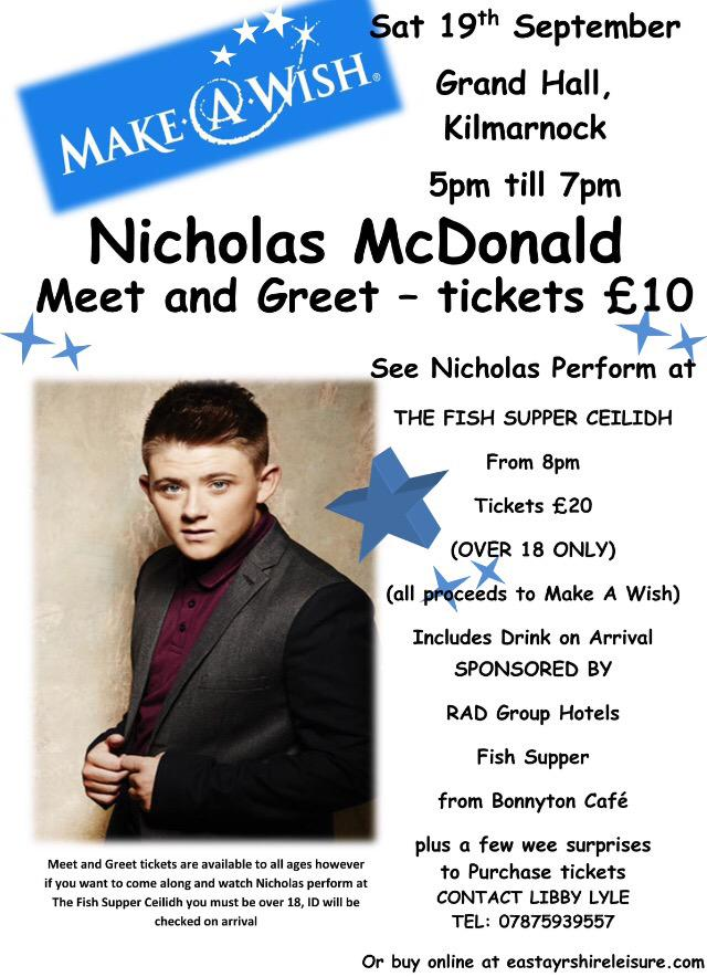 RT @Libbylyle1: @nickymcdonald1 thank you so much for this. Get your tickets here he's only coming to #Killie http://t.co/yeJD41JpNC http:/…