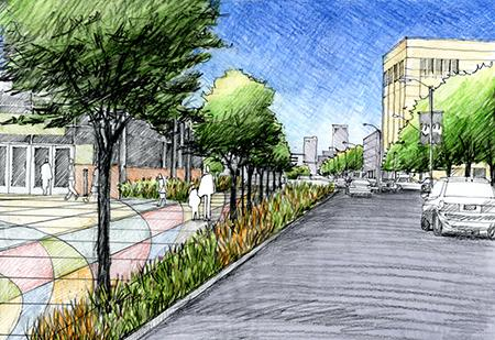 .@MidtownDetroit begins construction on the $4.3M final phase of the 3.5-mile #Detroit walkway http://t.co/DbD2OWU57P http://t.co/KzIuJFJw9i