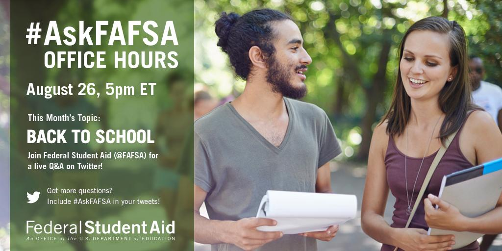 Thumbnail for August 2015 #AskFAFSA Office Hours: Back to School