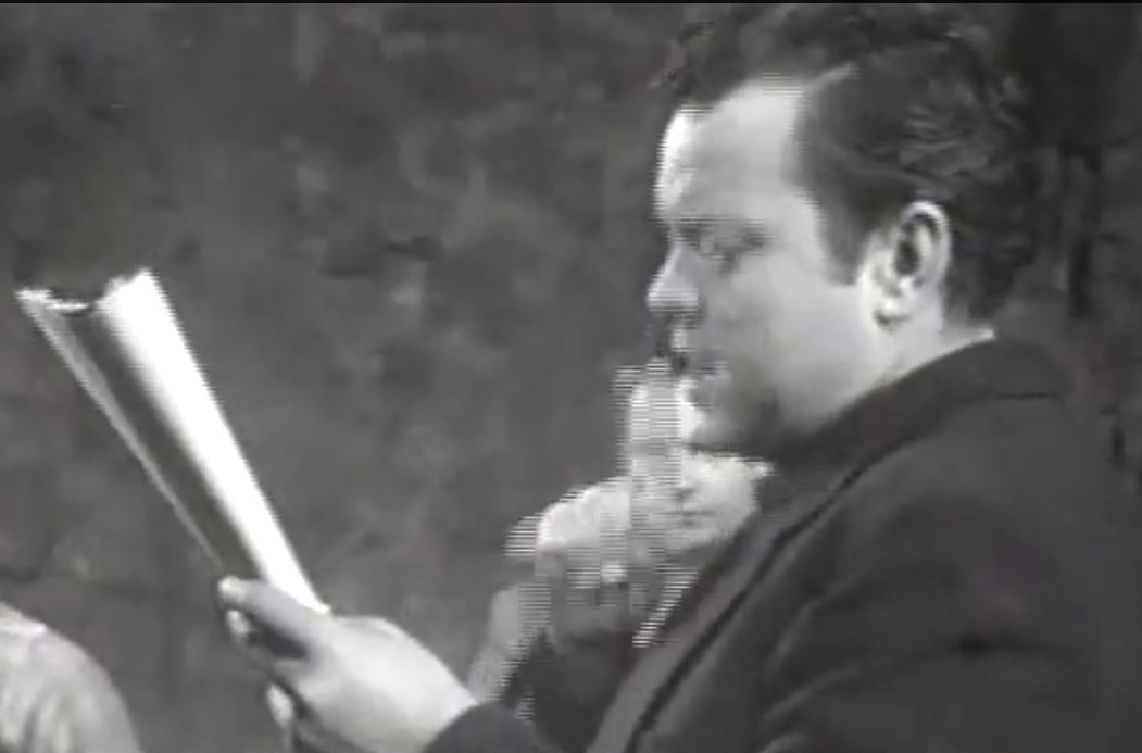 "RT @Wellesnetcom Rare #OrsonWelles treat. Footage from Orson Welles' 1950 play ""The Unthinking Lobster."" 