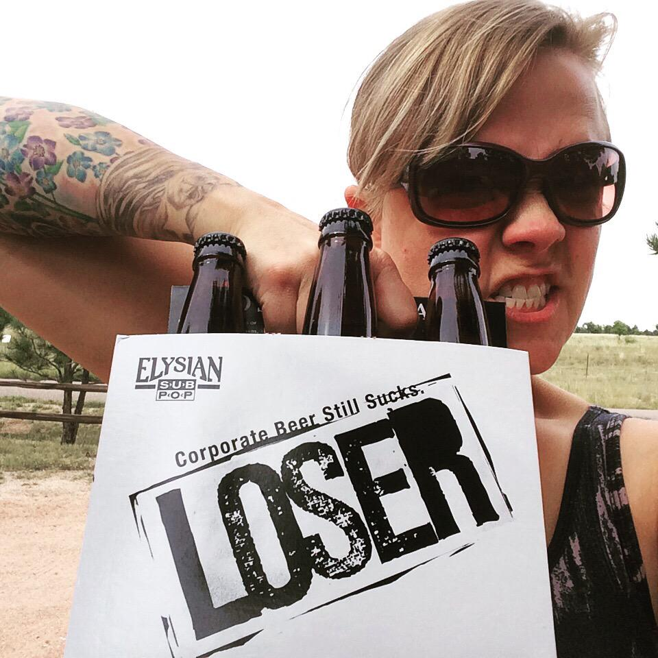 I don't even like pale ale but when @SubPop has a Corporate Beer Still Sucks LOSER I have to buy it @ElysianBrewing http://t.co/WdyWpLgp1i