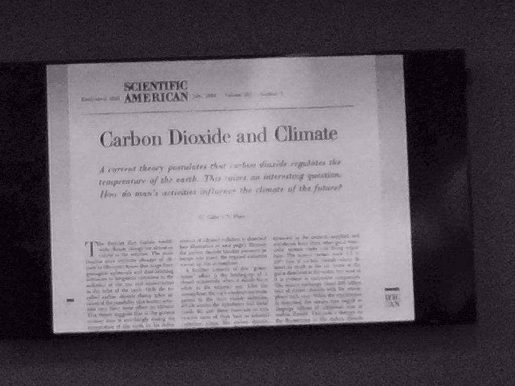 SciAm article from the 1950s on climate change