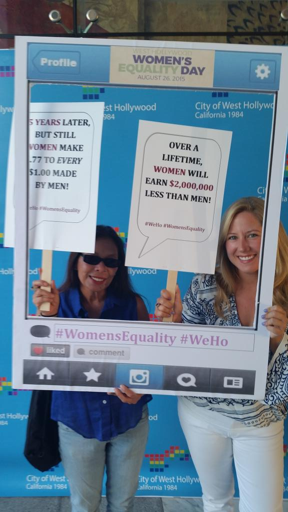 Happy 95th Birthday 19th Amendment! #Weho #WomensEqualityDay @WehoCity http://t.co/dfboEx8ZU2