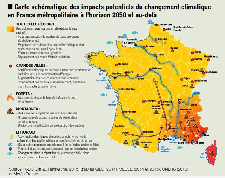 Carte Horizon Bordeaux.Carte Schematique Des Impacts Potentiels Du Changement