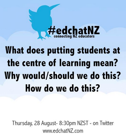 Q1 What does student centred look/feel like to you? #edchatNZ #edchatNZquestion http://t.co/FD00U62Lgp