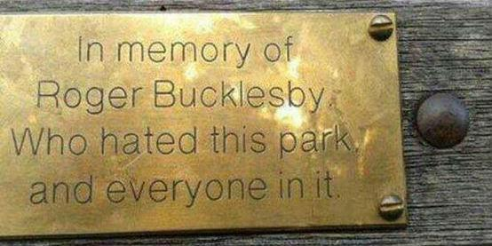We asked you to send in your favourite memorial benches - here are some gems:  http://t.co/xruC2sQoiH http://t.co/qTi0ITS8g6