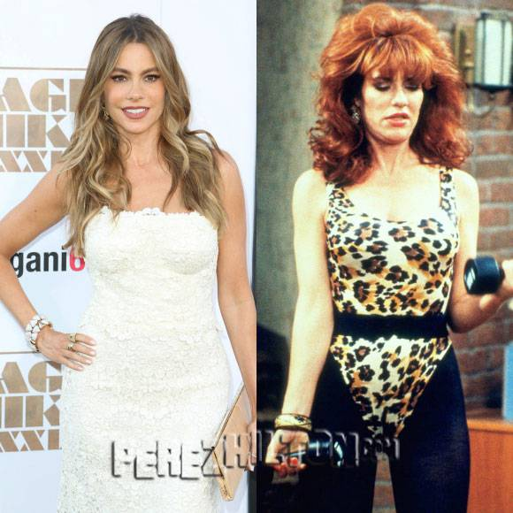 #SofiaVergara gets #MarriedWithChildren! See her as #PeggyBundy in this HIGHlarious selfie! http://t.co/4vqOweEvTn http://t.co/unM5fGR7Dt