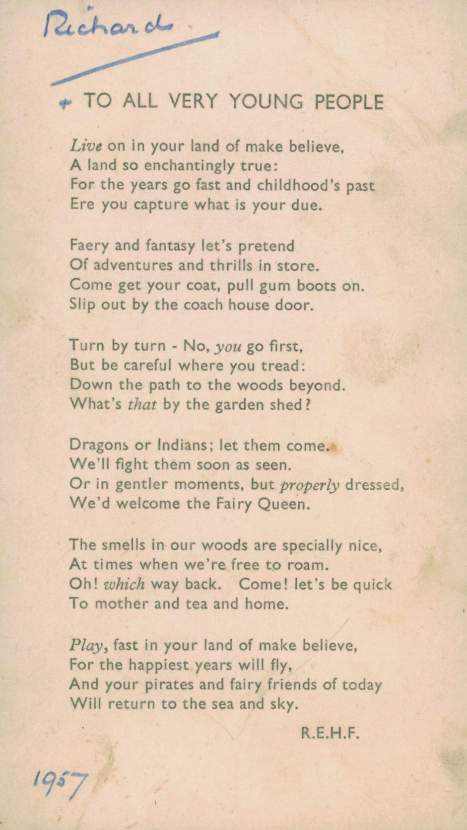 First my own first poem, now the first one I was written – by my dear grandfather http://t.co/A5vCCcsvrC http://t.co/BnvwRsHHok
