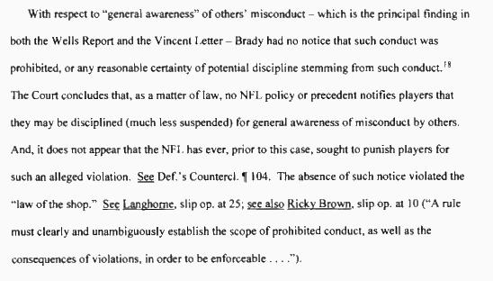 "Judge Berman on Tom Brady's ""general awareness"" http://t.co/L9fbS8kD2V #Deflategate http://t.co/uZtCrldN6b"