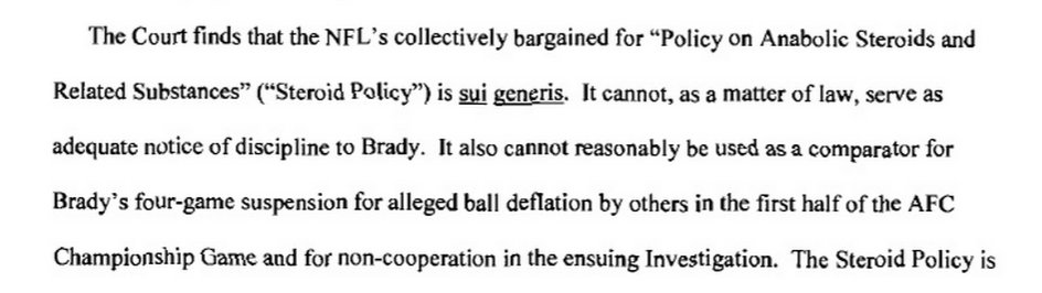 #Deflategate judge also destroys #Goodell for applying steroid penalty to equipment tampering http://t.co/tkJj9HTqj4