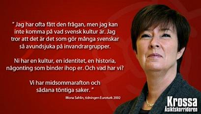 "Casper Sand on Twitter: ""#MonaSahlin i sitt esse... Om svensk kultur som  inte finns.. #svpol http://t.co/mIh9iFBs7X"""