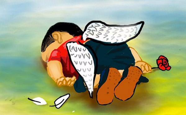 Que no se ahogue la compasión  Imágenes: @islamgawish @AzzamDaaboul @AdiKhair & Mahnaz Yazdani #HumanityWashedAshore http://t.co/GrzOZknFrc