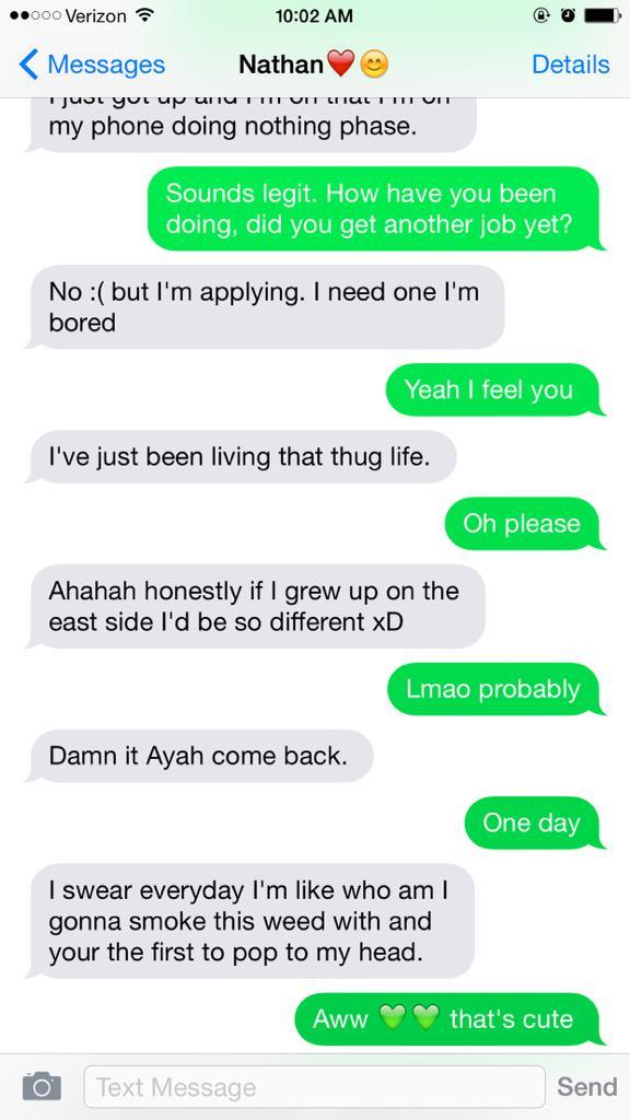 ayah powell on twitter last 4 messages stoner bestfriend goals