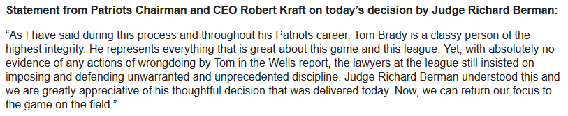 Robert Kraft statement: http://t.co/JluxkJp4H0
