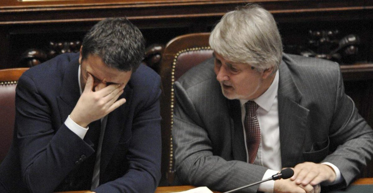 Giuliano Poletti con Matteo Renzi