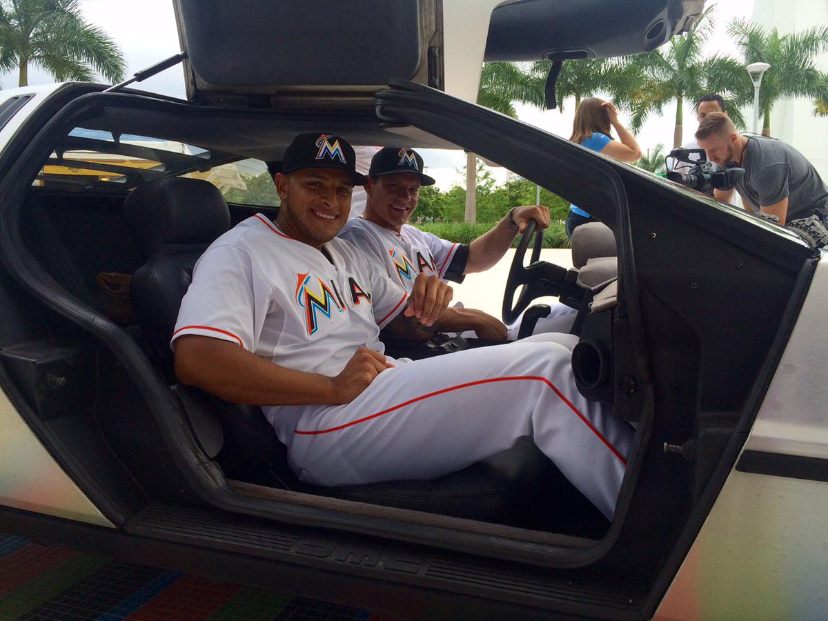 Miami Marlins rolling back the time in a DeLorean