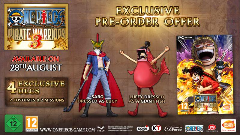 one piece pirate warriors 3 dlc costumes download pc
