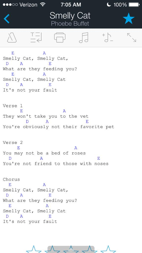 Smelly Cat Chords Smelly Cat ChordsI love FRIENDS wwwechordscom ...