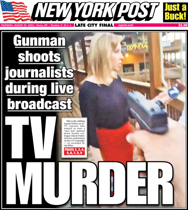 The New York Daily News Cover On Va. Shootings