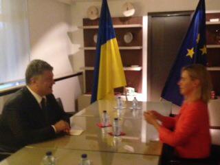 Могерини приняла приглашение Порошенко в ближайшее время посетить Украину - Цензор.НЕТ 1303