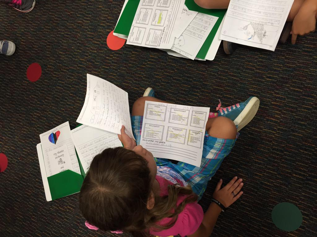 2nd grade-Learning to improve our writing through our personal goals @HeatherDLR #camlearns http://t.co/5gaoFQUYjn