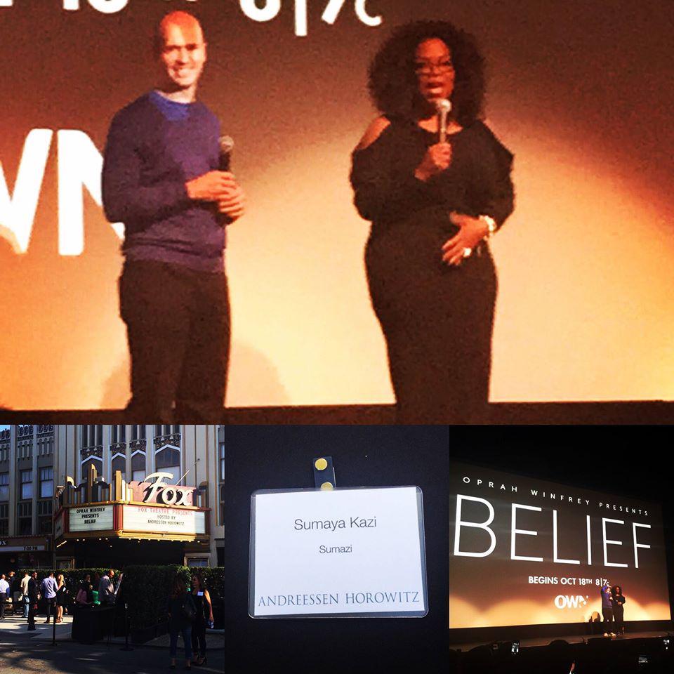 Amazing seeing @Oprah speak & watching an early screening of #Belief @OWNTV. Thx @bhorowitz @a16z @GLIDEsf 4 invite! http://t.co/XCOXWeZqzv