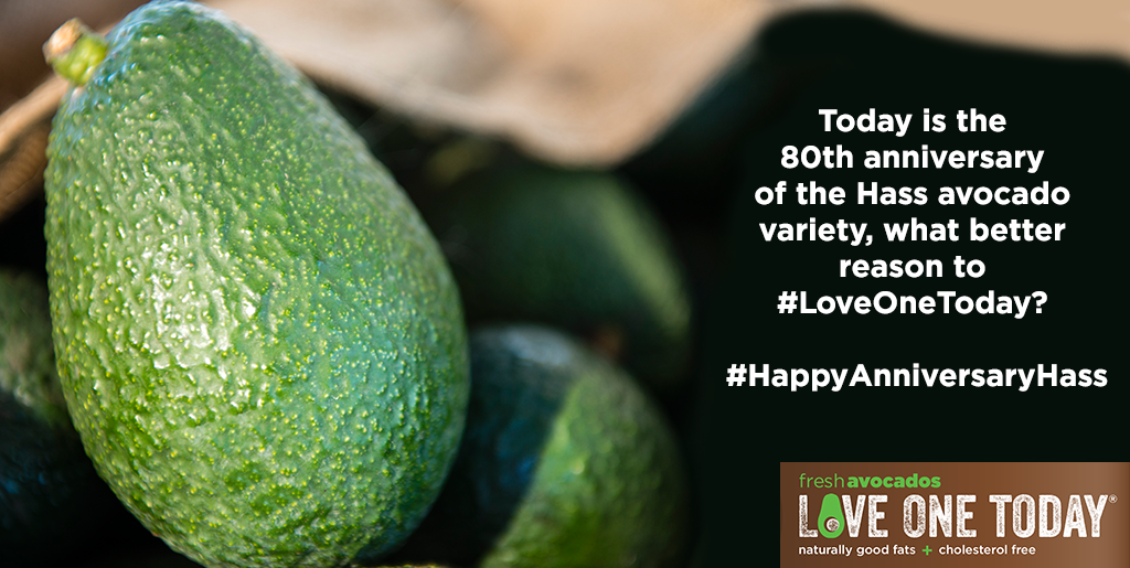 #DYK that the Hass Avocado was patented 80 years ago today? Happy anniversary Hass! http://t.co/7CB2XVTjNq