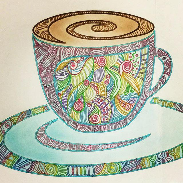 CoffeeBrue On Twitter New Coffee Instagram By Mimikolok Cafe Coloring Book Gony Coloringbook