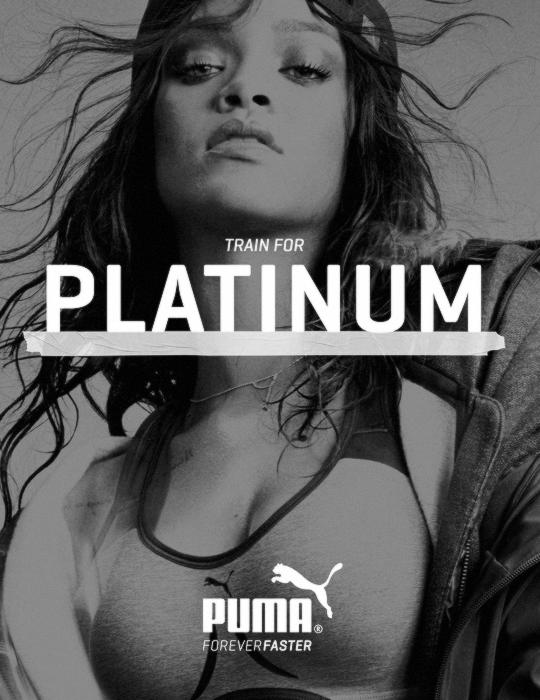 puma rihanna platinum