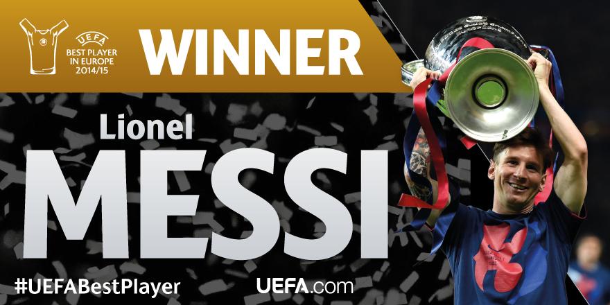 Messi es elegido Mejor Jugador de Europa