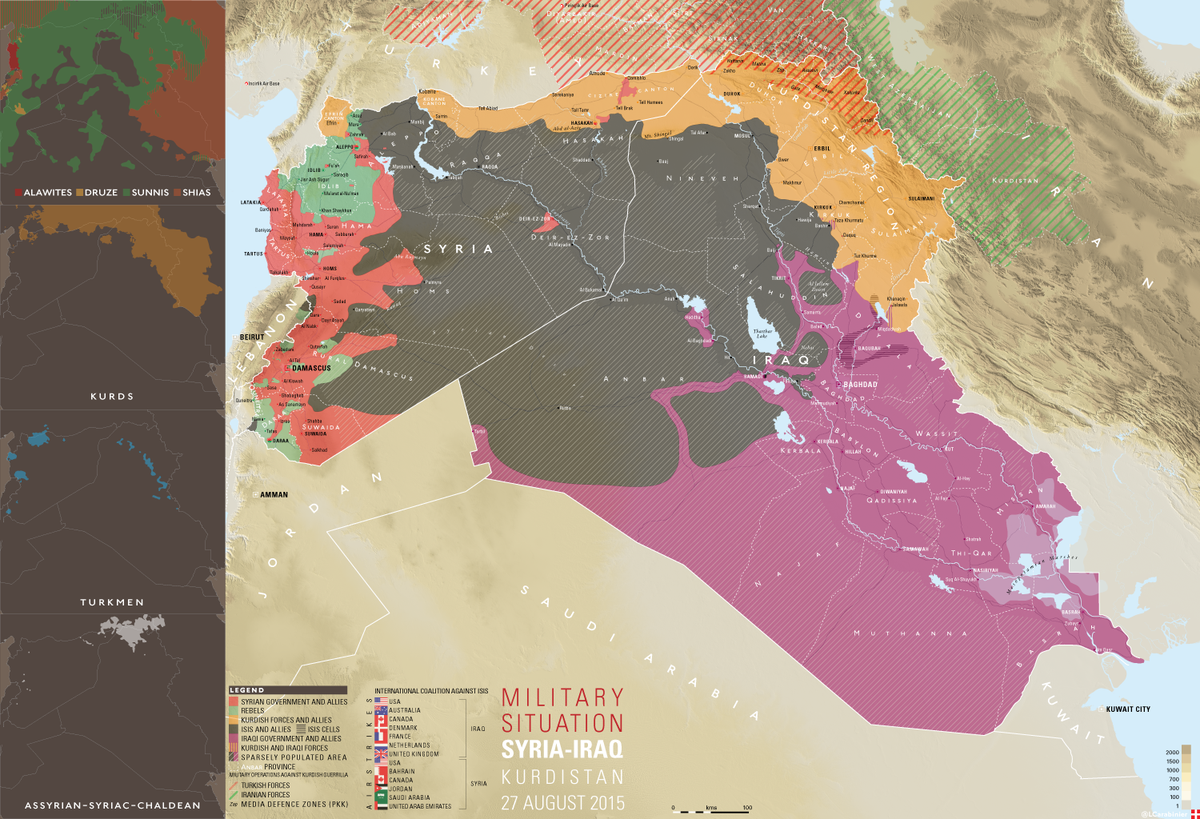 le_carabinier on twitter map syria iraq kurdistan military situation 27 august 2015 bigger httptconx0tw4b1ob httptcoxmsfst95vh