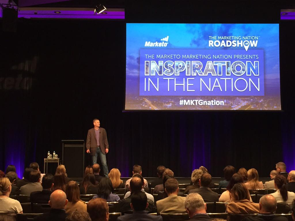 The #mktgnation has hit Sydney! Check out @marketo CEO on stage at our Roadshow! http://t.co/qKQgZUSslH