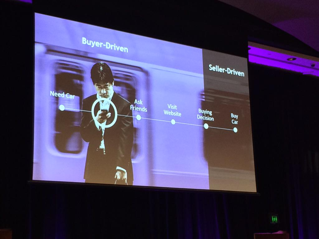 Old ways no longer work when 66-90% of buyer journey is before they even contact seller #MKTGNation http://t.co/ZW2lwWFfg1