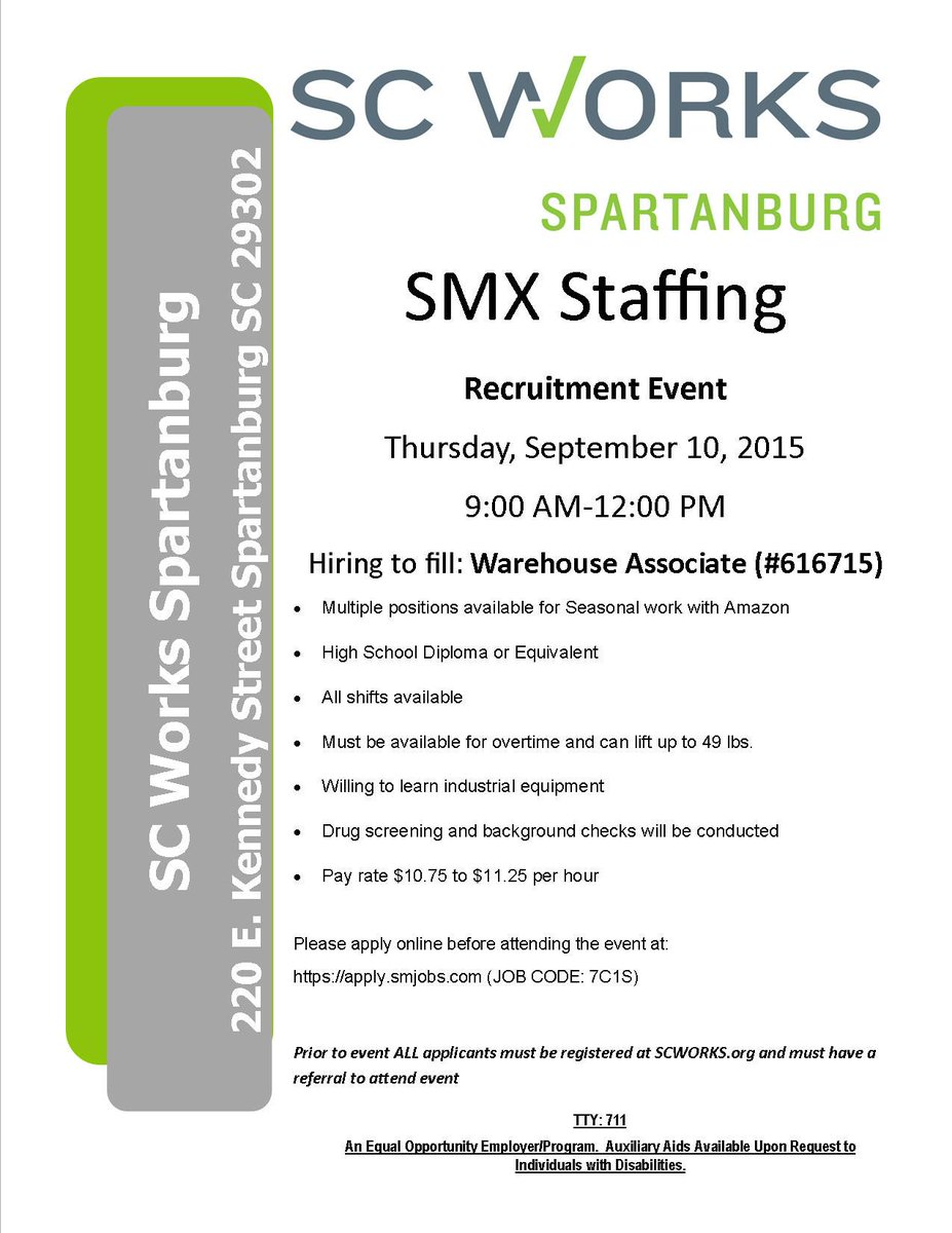 smx staffing spartanburg sc