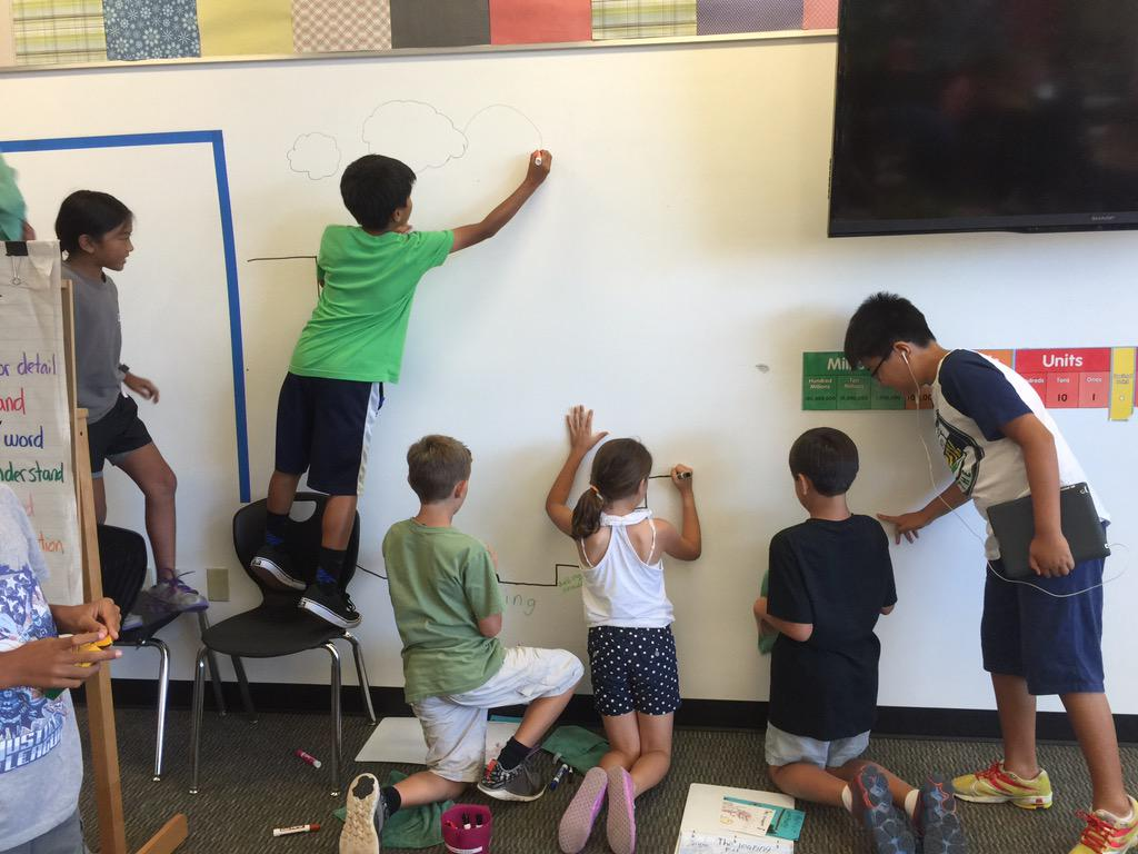 Ss working together to design our classroom learning pit. #camlearns http://t.co/7beGKMEr6a