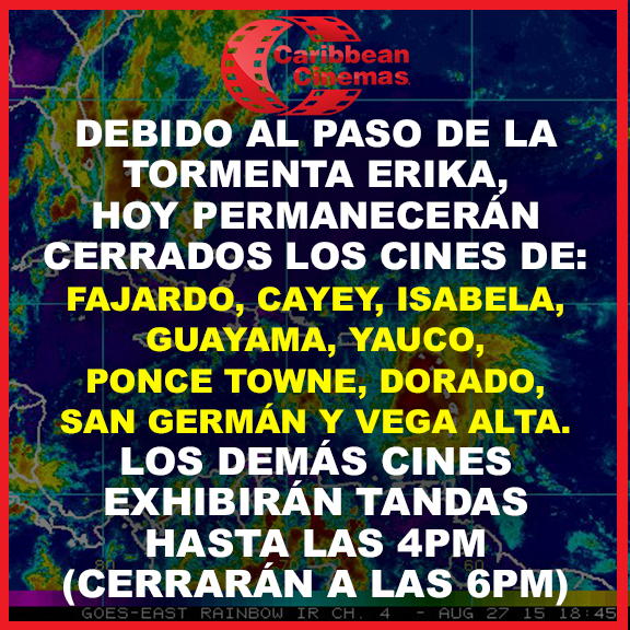 Horarios cines #TormentaErika http://t.co/7FgFPtwOpd