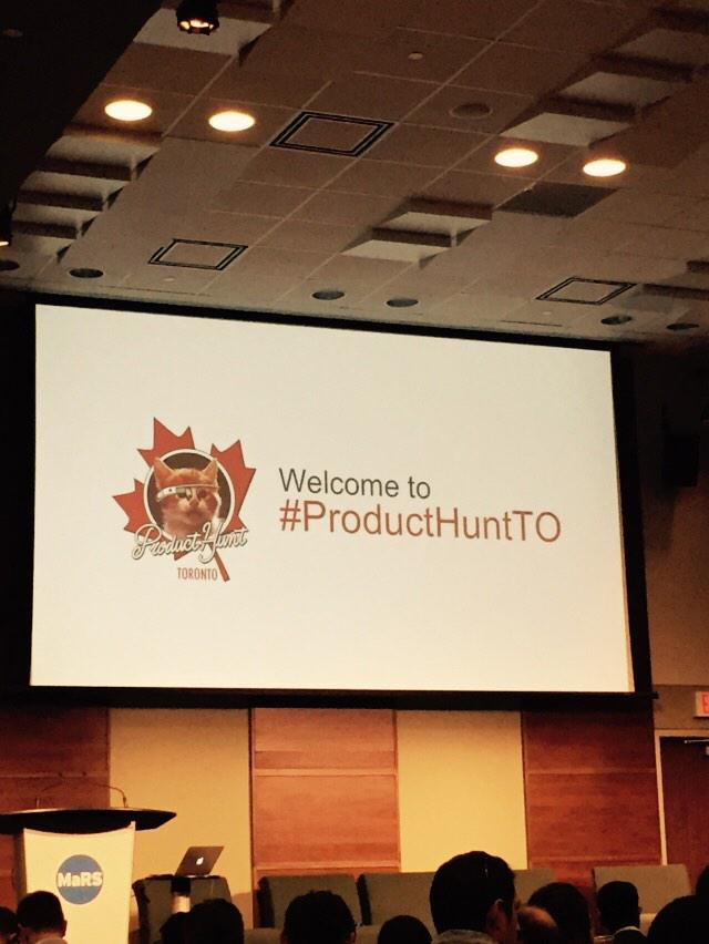 Packed house at @ProductHuntTO #producthuntTO http://t.co/uI6rXQFPb1