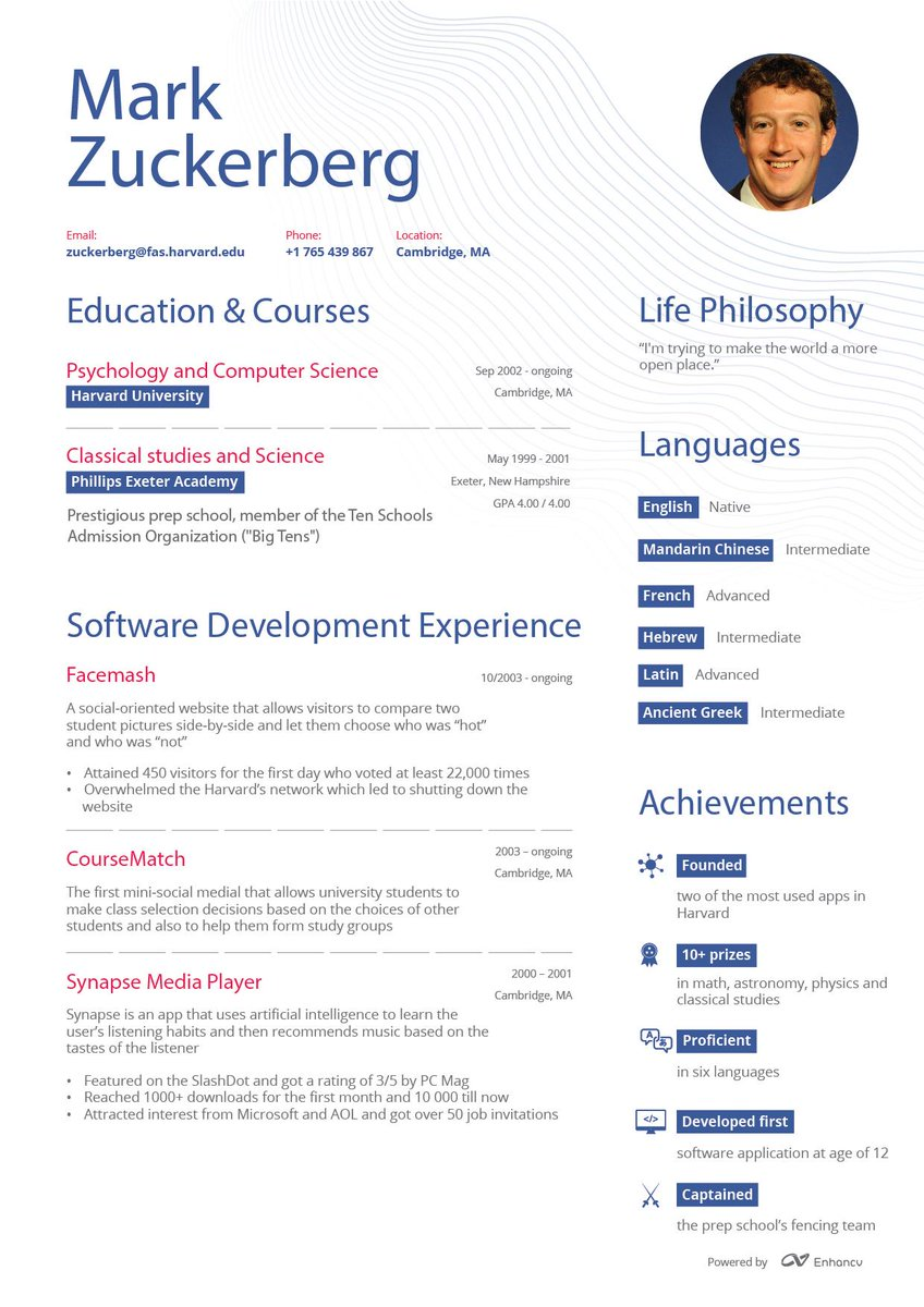 Best Resumes By Enhancv