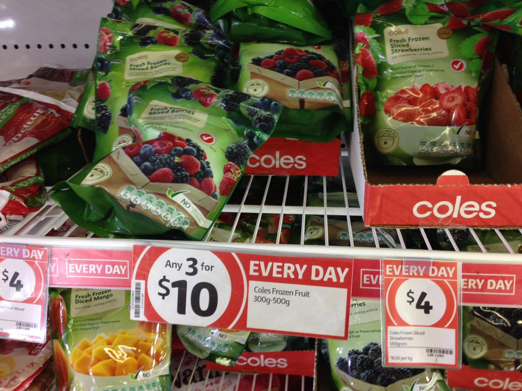 Coles Supermarkets On Twitter At Fionabreentas Our Frozen