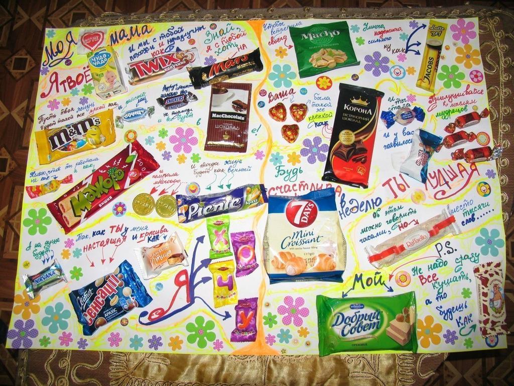 Днем рождения, открытки с конфетами для папы
