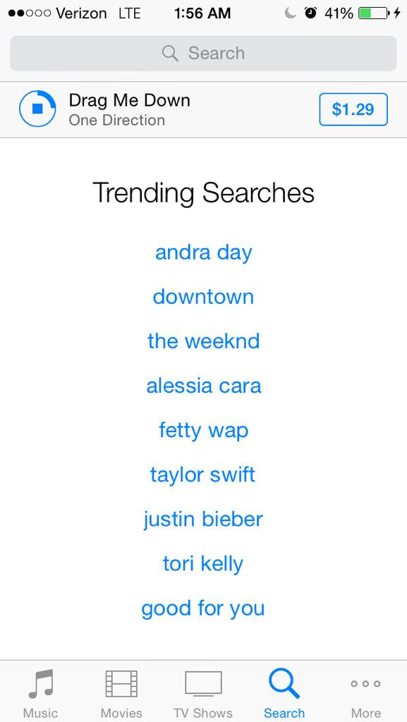 """Justin Bieber"" is already trending on iTunes and #WhatDoYouMean hasn't even come out yet http://t.co/h9ZwtgcbeR"