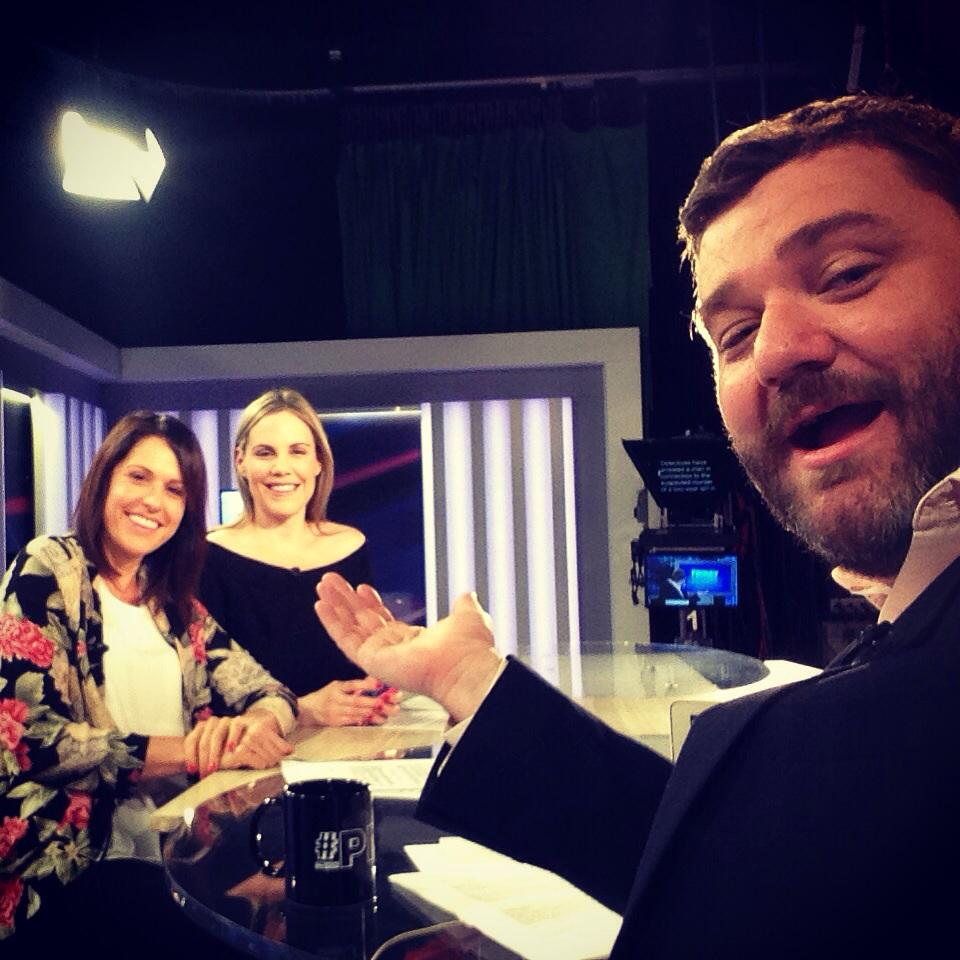 Hanging on #TheFridayShow panel with a few of my favourites @SarrahLeM @PMOnAir