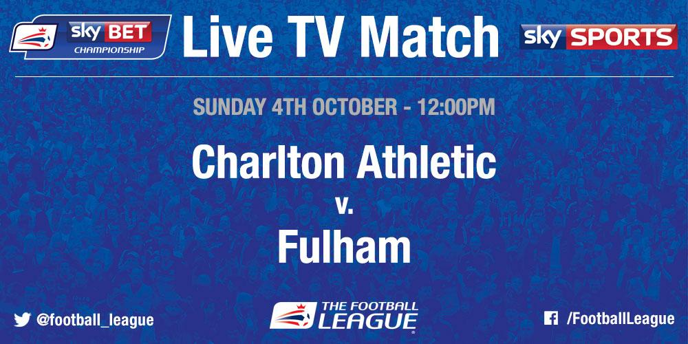 RT @SkyBetChamp: TV GAME: @CAFCofficial v @FulhamFC has been selected for live coverage by @SkySports on Sun 4 Oct at 12pm http://t.co/7S81…