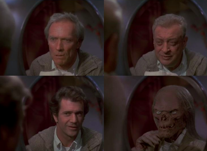 Four more cameos in Casper: Clint Eastwood, Rodney Dangerfield, Mel Gibson and Tales From The Crypt's Crypt Keeper.