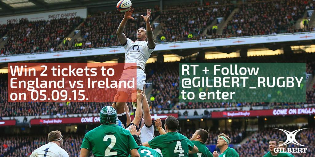 Want to be at @EnglandRugby v @IrishRugby on 05/09/15? RT + Follow to enter the draw to #win 2 tickets! #RWC2015